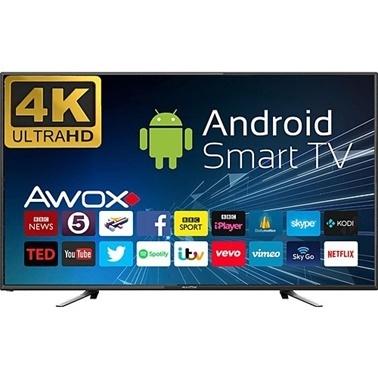 AWOX U5100STR/4KS 50'' 127 Ekran 4K UHD Uydulu Smart Led Televizyon Renkli